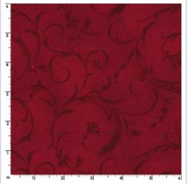 Maywood achterkantstof rood dubbelbreed 270 cm. - MASQB100 R