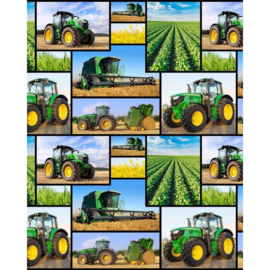 Quiltstof Farm machines met tractor 78650 103