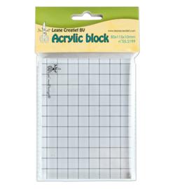 Acrylblok voor quiltstempel 8.5 x 11.5 x 1 cm.