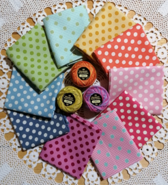 Stofpakket Tilda medium dots 10