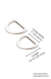 By Annie 3D rings set 1 inch HAR1-DR-N-TWO