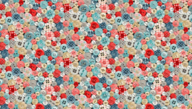 Makower Stitch in time 2136 1 stof met knopen