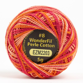 Wonderfil Alison Glass perle dikte 8 wt # 2203 Electric