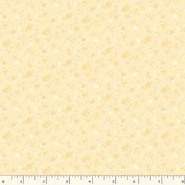 Quiltstof geel met bloemetjes R210873 - 0133 YELLOW