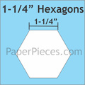 "hexagon mallen 1 - 1/4 "" inch"