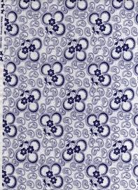 Hollandse quiltstof klavertje wit-blauw (art. nr.010509011)