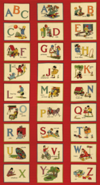 Stof panel met alfabet
