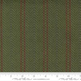 Quiltstof groene Flanel visgraat gestreept 49141 13F