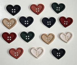 Knopen in de vorm van een hart