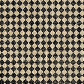 Quiltstof Diamond print zwart / tan 1019172