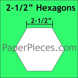 "hexagon mallen 2.5""inch"