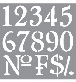 sjabloon Old world Numbers