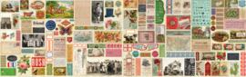 Flea Market Mix quiltstof met nostalgische plaatjes 7350 11D