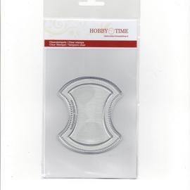 Quiltstempel klein klokhuis 5 cm. cre0086