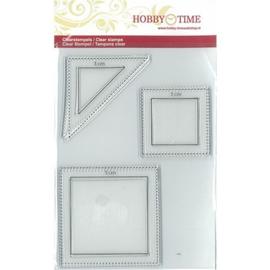 Quiltstempels vierkanten en halve vierkant 3 en 5 cm. crp0042