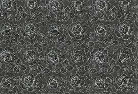 Fries roosje zwart-wit