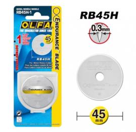 Olfa reservemes 45 mm RB45H1 voor Olfa snijmes - blijft langer scherp