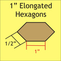 verlengde hexagon mallen 1 ""