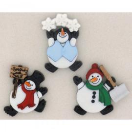 Knopen sneeuwmannen