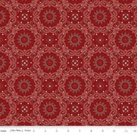 Riley Blake American Legacy C9421 RED Bandana by Dan Mogstad