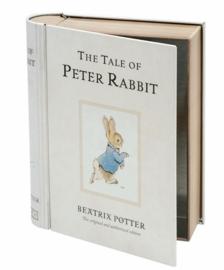 Blik in boekvorm van Peter Rabbit