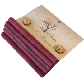 Wooly charms groen 5701 donkerrood / cranberry