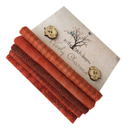 Wooly charms groen 4730 rood oranje /  persimmon