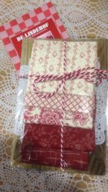 Cadeau plank met stofjes pakket rood 1