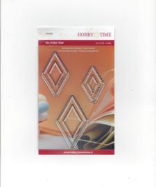 Quiltstempel transparant Six point diamant (ruiten of wiebertjes) 0.5, 0.75 en 1 inch crp 0084