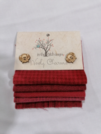 Wooly charms groen 4731 rood / pomegranates
