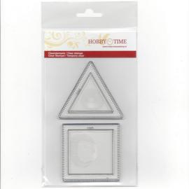 Quiltstempel square en triangle 2 inch crp0030