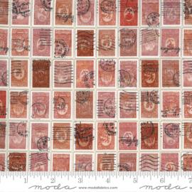 Flea Market Mix quiltstof met postzegels 7374 13