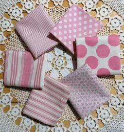 Stof pakket  Tilda pink 6