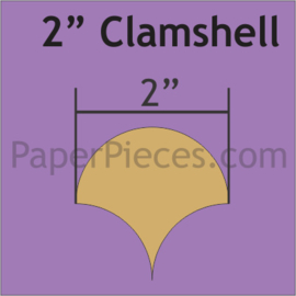 Paper pieces 2 inch clamshells