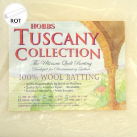Hobbs Tuscany 100 % wol tussenvulling   243 cm. breed - 96 inch -