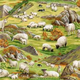 Quiltstof in the country 101 met schapen 89310 104