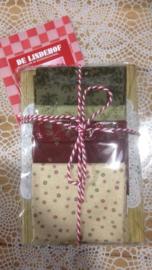 Cadeau plank met stofjes pakket kerst 3