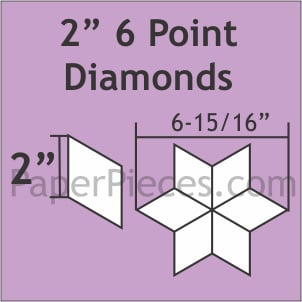 Paper pieces  2 inch point diamonds zes puntige ster