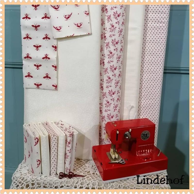 Blog...nieuwe stoffen My Redwork Garden van Bunny Hill Designs