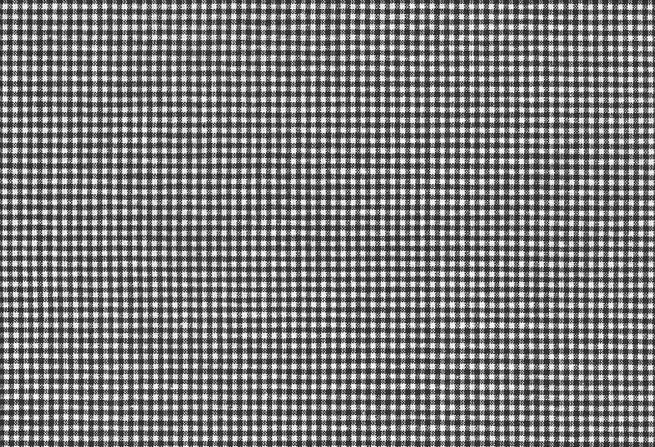 Geweven ruitstof zwart wit  3 mm