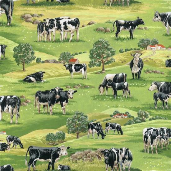Quiltstof in the country 103 stof met koeien