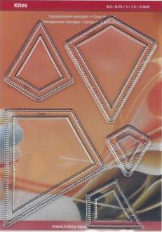 """Set of kites - vliegers  in 5 maten (1/2"""", 3/4"""", 1"""", 1-1/2"""" en 2"""") CRP0184"""