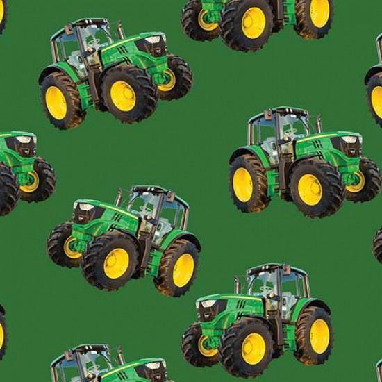 Quiltstof Farm machines met tractor 78650 104