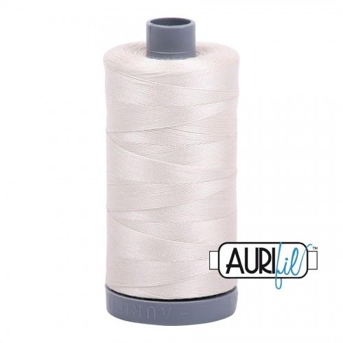Aurifil Mako28 #2309 Silver White - 750 meter