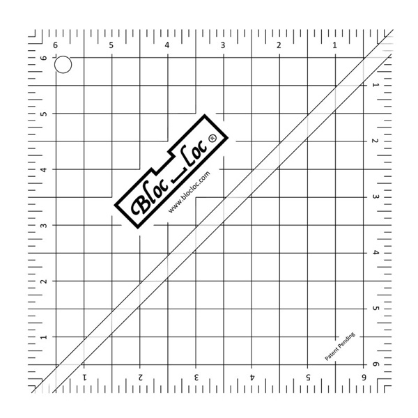 Bloc Loc Lineaal vierkant 6,5 x 6,5 inch