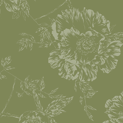 Achterkantstof groen dubbelbreed 270 cm. - 9748W44