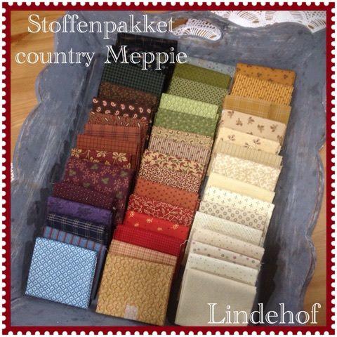 Stoffenpakket - kit Country Meppie quilt 'á la Lindehof'