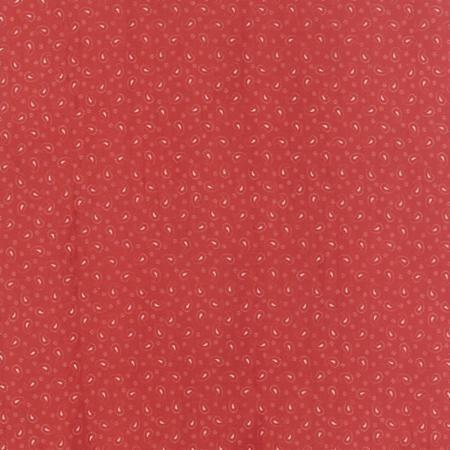 quiltstof Polka dots Paisleys red