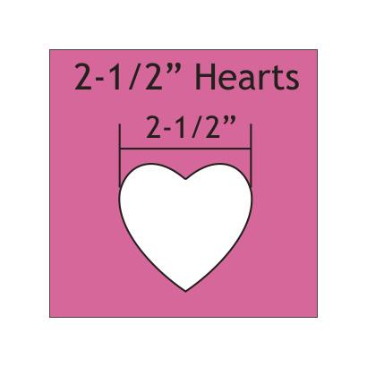 """Mal in de vorm van hart 2 - 1/2 """"inch"""