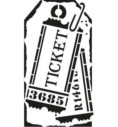 sjabloon etiket tickets